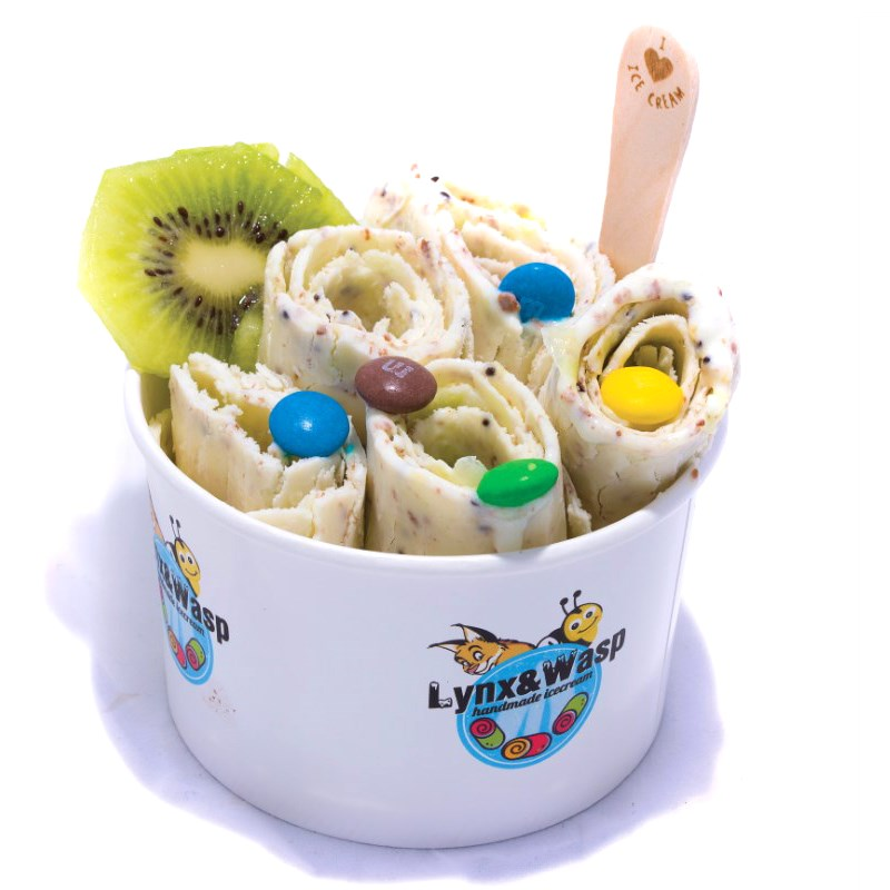 Lody tajskie - Kiwi i m&m